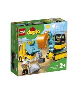 LEGO DUPLO - Ciężarówka i koparka gąsienicowa 10931