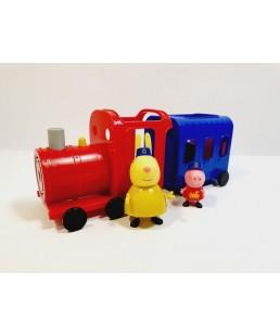 Świnka Peppa - Duży Pociąg Pani Królik + Figurki